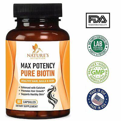 Potent Biotin Pills Vitamins For Skin Men Women Girls Best Hair Growth