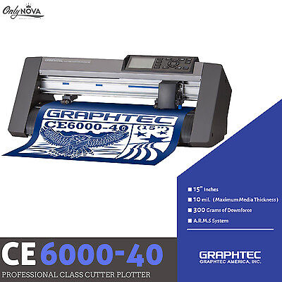 Graphtec Ce6000-40 Plus Vinyl Cutter Plotter Free Roll-medium Tray Free Shipping