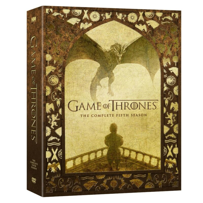 Game of Thrones: The Complete Fifth Season 5 (DVD, 2016, 5-Disc Set)