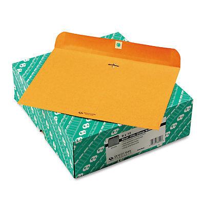 Quality Park Redi File Clasp Envelope 12 x 9 Brown Kraft 100/Box 38090 Quality Park Redi File Clasp