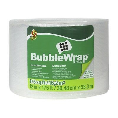 Duck Brand Bubble Wrap Roll 316 Original Bubble Cushioning 12 X 175 Perfo...