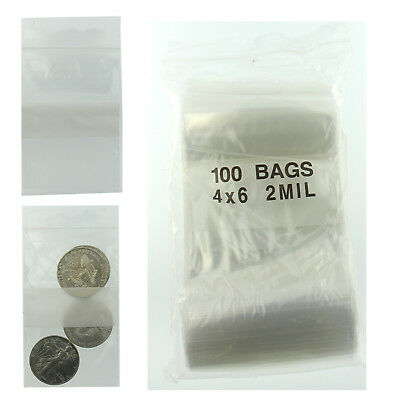 4x6 Ziplock Plastic Bags Reclosable Pack Of 100 Poly Baggies W Writing Block