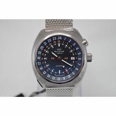 Glycine 3903.188 MM Men's AIRMAN SST 12 Navy Automatic Watch