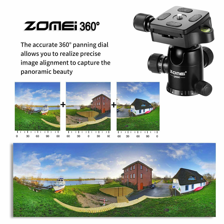 Zomei Q666C Carbon Fiber Tripod Portable Light Weight Ball