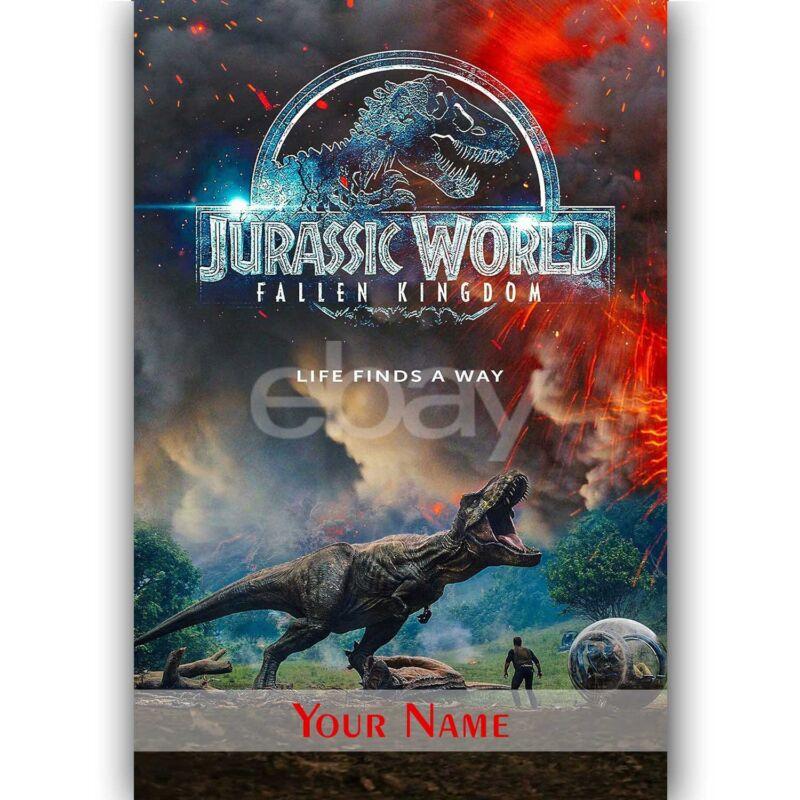 New Pinball FX3  Jurassic World Pinball Custom Silk Poster Wall Decor