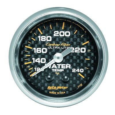 (AutoMeter 4732 Carbon Fiber Mechanical Water Temperature Gauge)