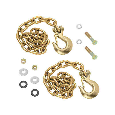Reese Towpower 49151 Goosebox 20000 Pound Rated Trailer Chains And Hooks Gold