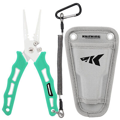 "KastKing Cutthroat 7"" Fishing Pliers - Split Ring/ Straight Nose Line Cutter"