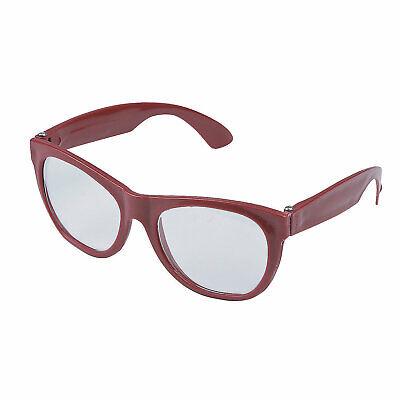 Burgundy Clear Lens Glasses - 1 Pc. - Apparel Accessories - 1 Piece