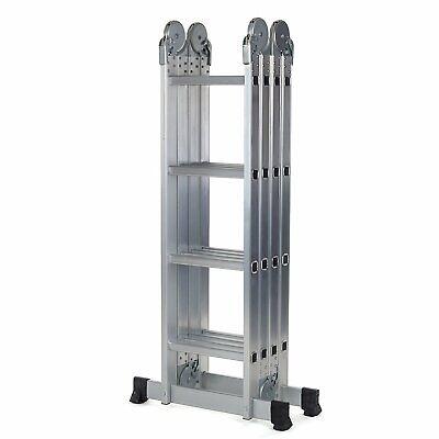 Escalera multifunción 4.66 Mtrs. con 2 plataformas andamio modelo PSMF466