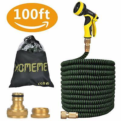 100 Ft Expandable Strongest Garden Outdoor Hose Pipe Lightweight Compact Easy Sr