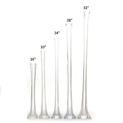 (12 Pack) Eiffel Tower Vases  - 3 Colors - Wedding Centerpiece in 7 Sizes