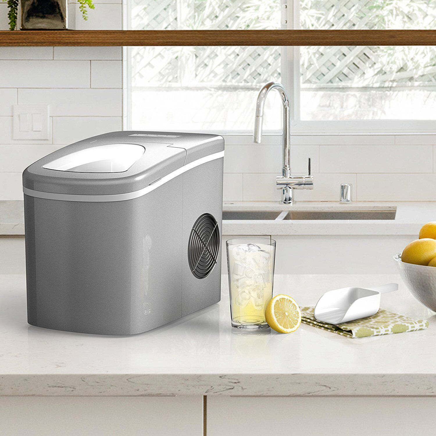 Portable Ice Maker Machine for Counter Top - Makes 26 lbs of