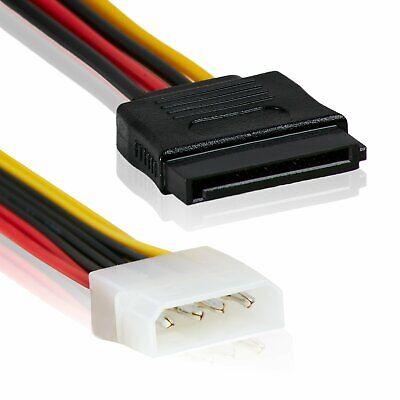 Cable Adaptador Alimentacion 4 Pines IDE/ATA a SATA - 15cm Material: Al+Mg