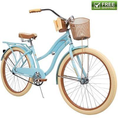 """Huffy Cruiser Bike Women's 26"""" Blue Beach City Comfort Bicyc"""