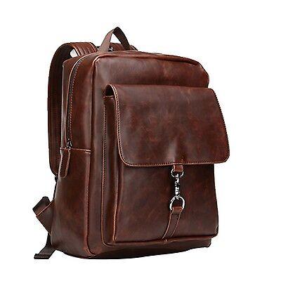 Men's Crazy Horse Leather Backpack Travel Satchel Tote School Bag Shoulder Bag