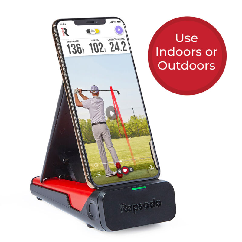 Rapsodo Mobile Launch Monitor for Golf Indoor and Outdoor Use iPhone & iPad Only