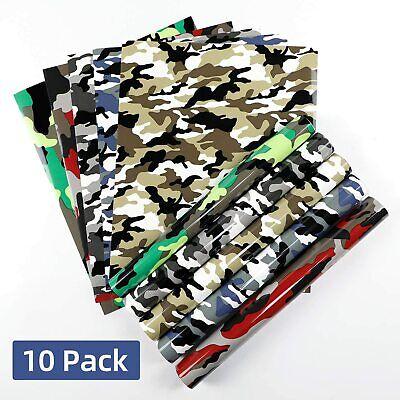Camo Htv Heat Transfer Vinyl Bundle 10 Pack 12 X 10 Sheets Iron On Vinyl