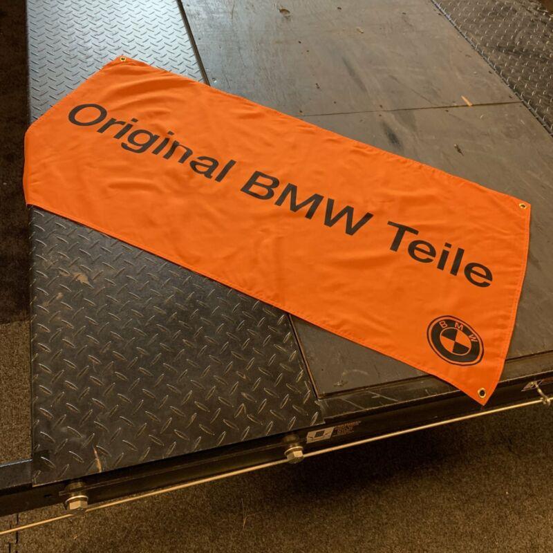 """""""Original BMW Teile"""" Dealer Banner E9 E10 E12 E21 E23 E24 E28 E30 Orange Black M"""