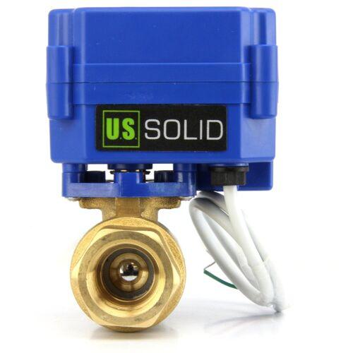 "3/4"" Brass Motorized Electric Ball Valve 9V 12V to 24V, 2 Wire Reverse Polarity"