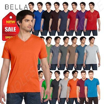 Canvas Short Sleeve Shirt (Bella + Canvas Short Sleeve Unisex V-Neck Jersey XS-XL T-Shirt R-3005 )