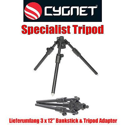 Cygnet Specialist Tripod - Dreibein Rutenauflage Kamerastativ Höhe 30 bis 58cm