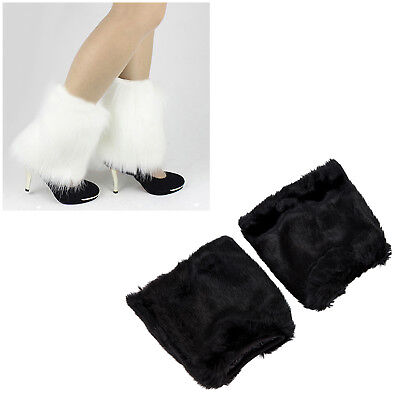 Fluffies Fluffy Furry Leg Warmers Boots Covers Rave Furries I7Q9