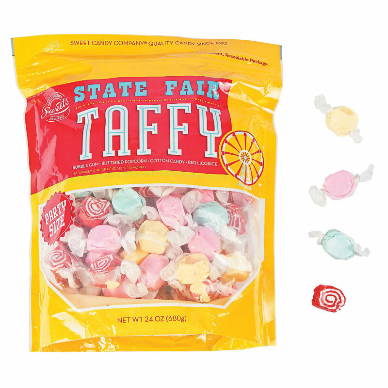 State Fair Salt Water Taffy -  112 Pieces