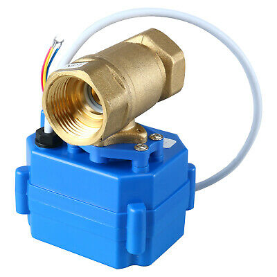 Brass 34 Control Motorized Electrical Ball Valve Full Port 3 Wire Setup