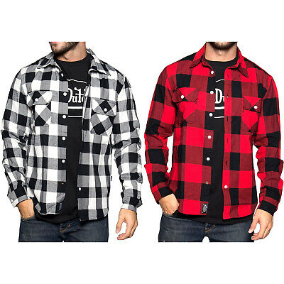 Von Dutch Logo Men's Warm Long Sleeve Classic Style Flannel