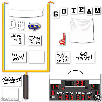 Football Superbowl Party Wall Decoration FOOTBALL GOAL SIGNS ADD ON PROPS](Superbowl Party Decor)