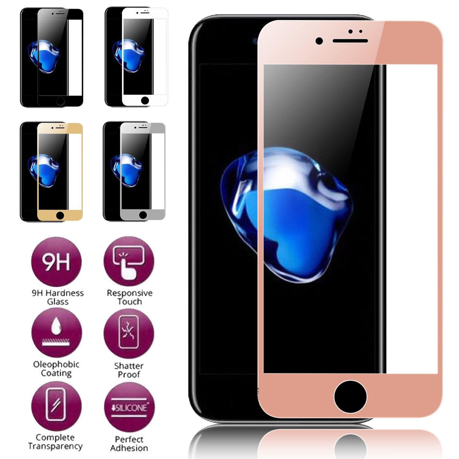 3D Curved Full Cover Tempered Glass Screen Protector for iPhone 8 / 8 Plus Cell Phone Accessories