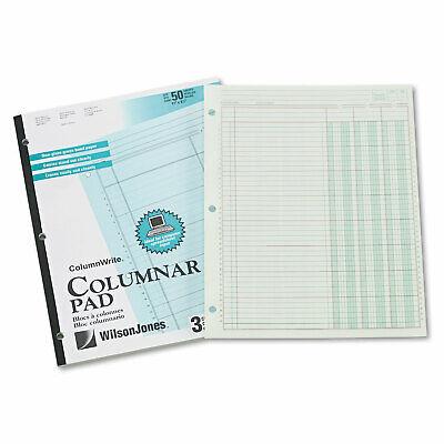 Wilson Jones Accounting Pad Three Eight-unit Columns 8-12 X 11 50-sheet Pad