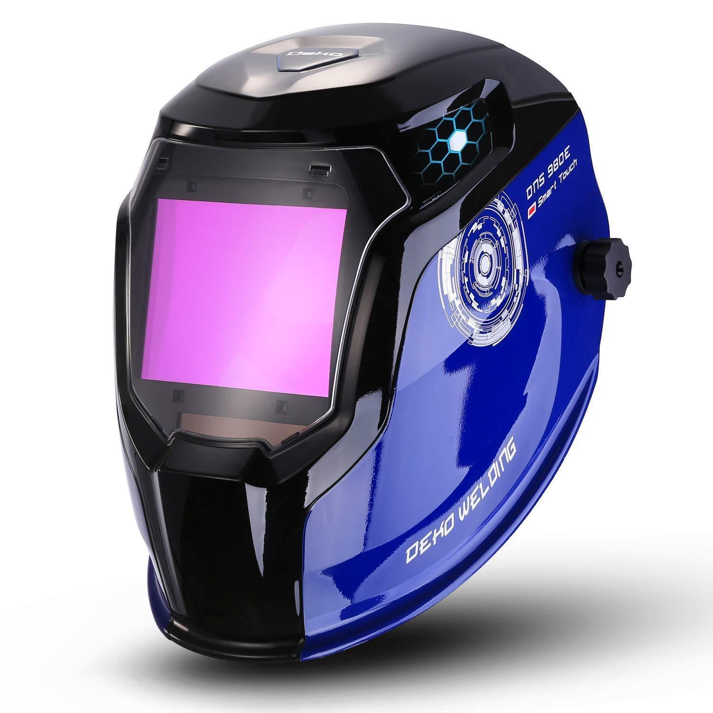 DEKO Solar Powered Welding Helmet Auto Darkening Professiona