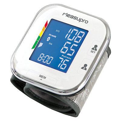 MeasuPro Wrist Digital Blood Pressure Monitor w/ Heart Rate + Hypertension Alert