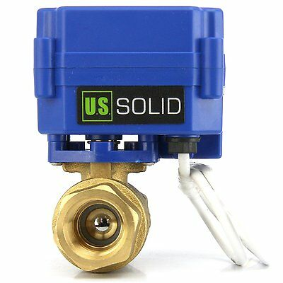 U.s. Solid 34 Brass Motorized Ball Valve 9v 12v To 24v Ac Dc 3 Wire Setup