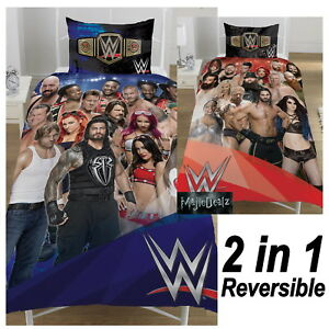 WWE WRESTLING FACE V HEEL SINGLE DUVET COVER 2 In 1 REVERSIBLE COTTON BLEND