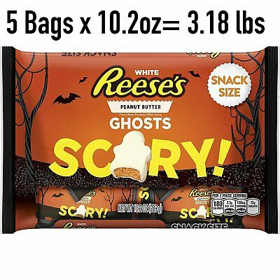 es Peanut Butter Ghost Cups Miniatures Candy LOT 5 Bags (Peanut Butter Cups Halloween)