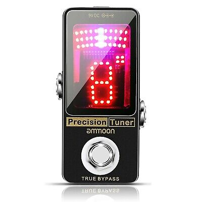 ammoon Tuner Guitar Pedal Precision Chromatic Tuner Pedal Large LED Display F...