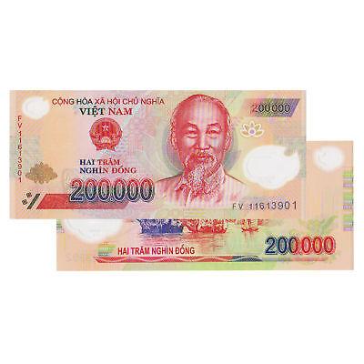 2x VIETNAM $200000 DONG UNCIRCULATED POLYMER BILL BANKNOTE