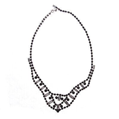 JOOMI LIM Black & White Crystal Bib Necklace NEW