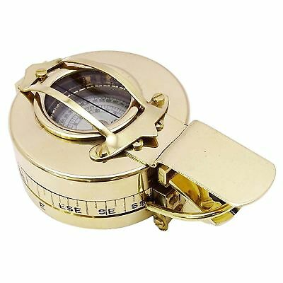 Vintage Antique Maritime Brass Pocket Watch Kelvin & Hughes With Wooden Box Gift High Standard In Quality And Hygiene Other Maritime Antiques Maritime