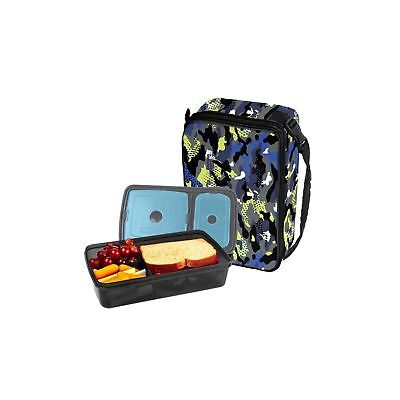 Lime Lunch - Fit & Fresh Bento Lunch Set, Blue Lime Jungle Pattern