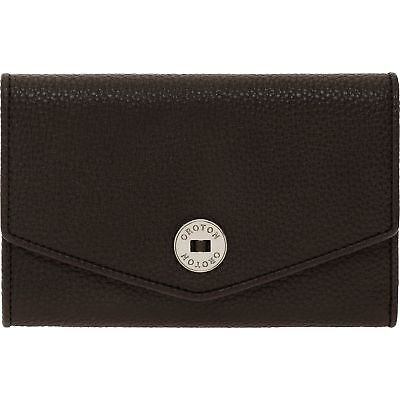 OROTON WALLET MELANIE HIGHFOLD CHOCOLATE Brown Purse RRP$225 Clearance Sale (Oroton Sales)