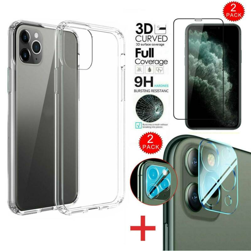 For iPhone 11 Pro Max Case+Front+Camera Len Tempered Glass S