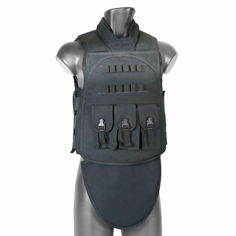 MetalTac Tactical Vest with Mag Pouches Shell Holder Airsoft Paintball Outdoor