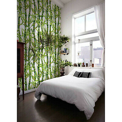 Watercolor Bamboo removable wallpaper Floral wall mural Flowers self adhesive - Bamboo Wall Murals