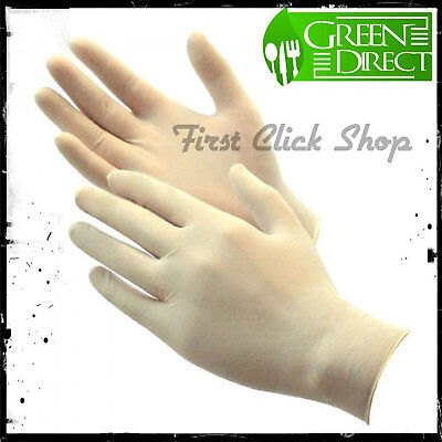 Latex Gloves Rubber Powder Free/Disposable Food Prep Cooking Size Small 100 New