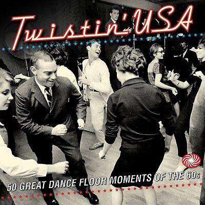 Twistin' USA 2-CD NEW SEALED Chubby Checker/Sam Cooke/Crystals/Johnny Preston+