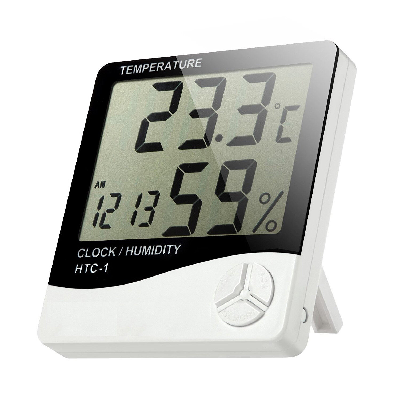 Digital Indoor Thermometer Hygrometer Humidity Monitor w/ Temp Humidity Gauge
